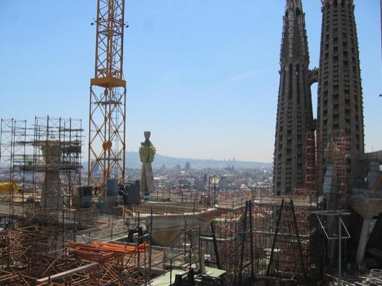 Looking from Sagrada Familia