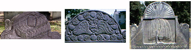 Death's Head, Cherub, Urn and Willow