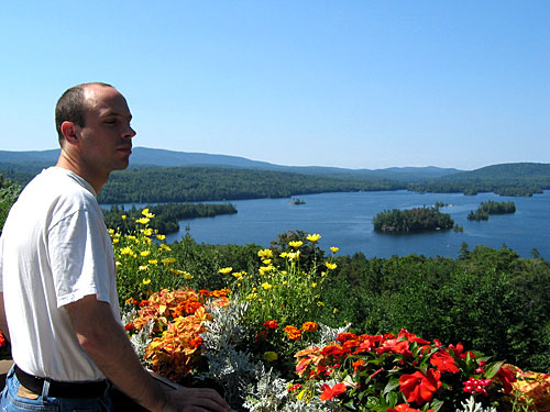 Peter looking over Blue Mountain Lake