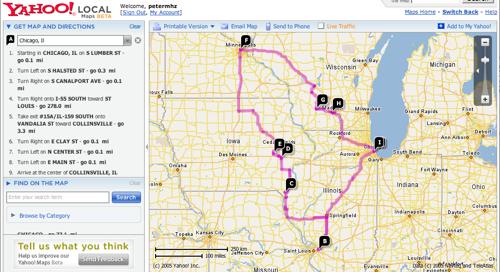 Yahoo Maps Beta